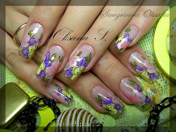 дизайн ногтей акриловыми красками пошагово для начинающих